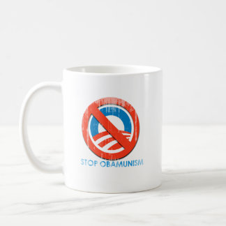 Say No To Obama 3 stop obamunism Faded.png Classic White Coffee Mug