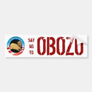 Say No To OBOZO Bumper Sticker Car Bumper Sticker
