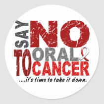 Say NO To Oral Cancer 1 Classic Round Sticker