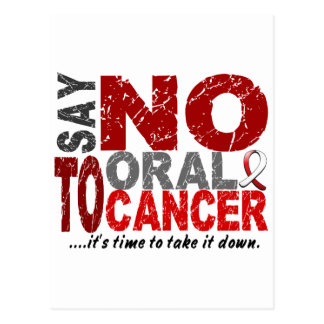 Say NO To Oral Cancer 1 Postcards