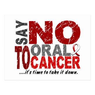 Say NO To Oral Cancer 1 Postcard