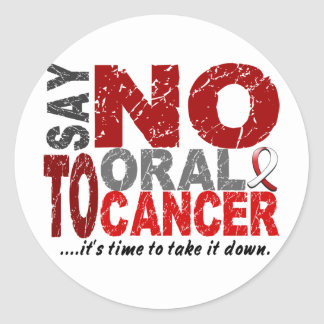 Say NO To Oral Cancer 1 Stickers