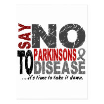 Say NO To Parkinsons Disease 1 Postcard
