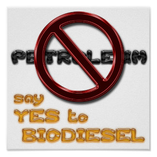 Say NO to PETROLEUM, say YES to BIODIESEL poster
