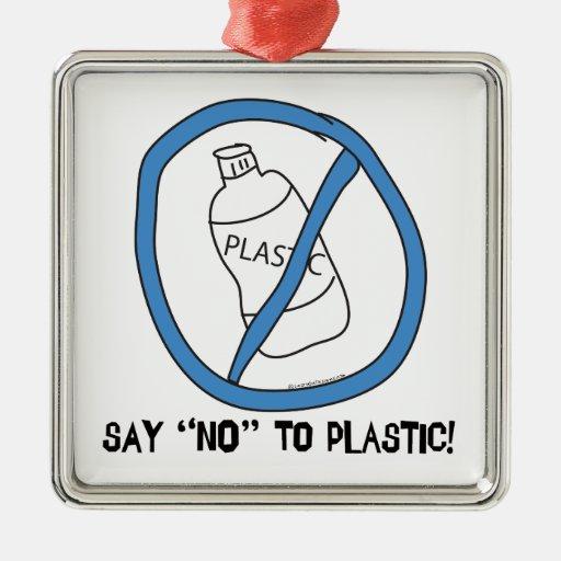 Say No to Plastic Christmas Ornament
