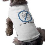 Say No to Plastic Dog Tshirt