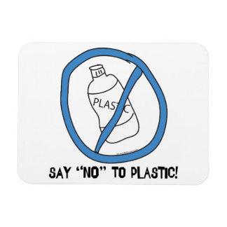 Say No to Plastic Vinyl Magnet