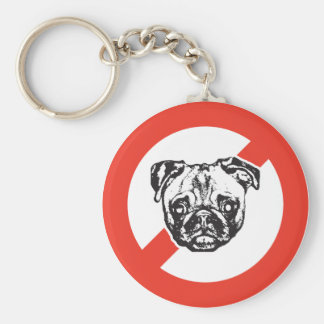 Say No to Pugs Keychain