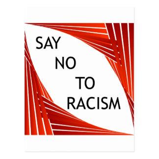 Say no to racism postcard