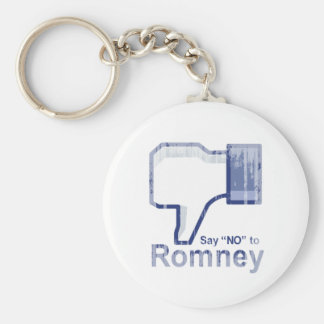 Say No to Romney.png Basic Round Button Keychain