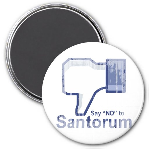 Say No to Santorum Faded.png Refrigerator Magnet