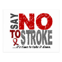 Say NO To Stroke 1 Postcard