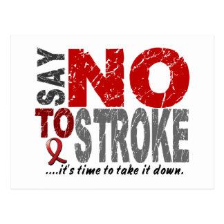 Say NO To Stroke 1 Postcard
