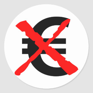 Say No to the Euro! Classic Round Sticker