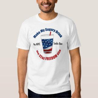 Say No to the NYC Soda Ban T-shirts