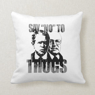 Say No to Thugs Faded.png Throw Pillows