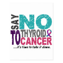 Say NO To Thyroid Cancer 1 Postcard