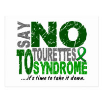 Say No To Tourette's Syndrome Postcard