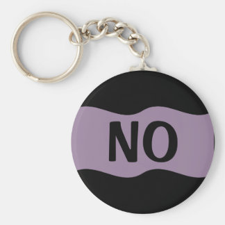Say No to Violence, Abuse, Drugs, Alcohol, & Fear Basic Round Button Keychain