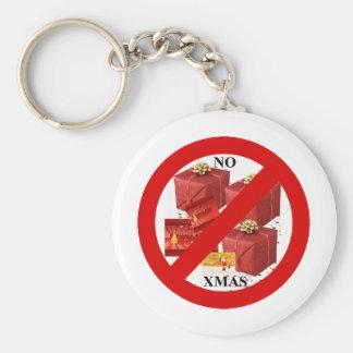 Say NO to Xmas Keychain