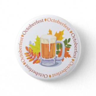 Say Oktoberfest Button button