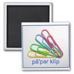 Say Paper Clip Magnet