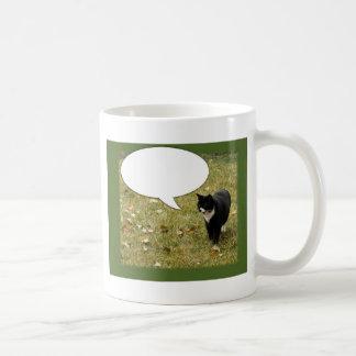 Say Something Customizable Cat Design Coffee Mug