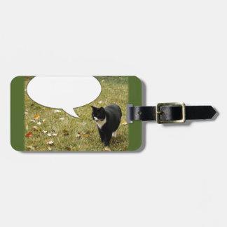 Say Something Customizable Cat Design Bag Tag