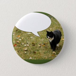 Say Something Kitty Pinback Button