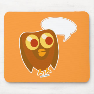 Say Something Owl Mouse Pad