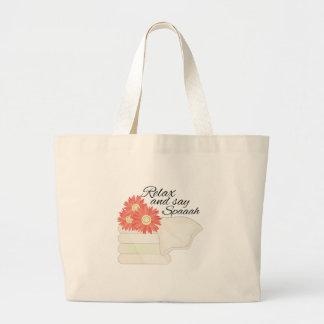 Say Spa Jumbo Tote Bag