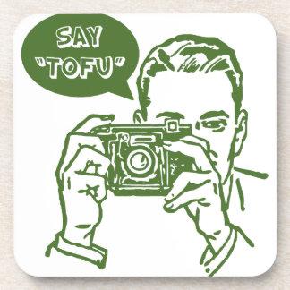 Say Tofu Beverage Coasters