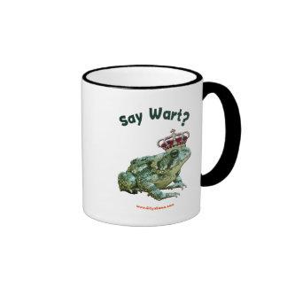 Say Wart Frog Toad Prince Mugs
