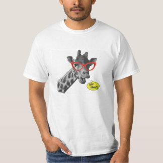 'SAY WHAT!?' Talking Giraffe T-Shirt