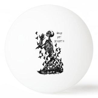 Say yer Prayers Pirate Skeleton  blackbirds humor Ping-Pong Ball