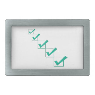 Say YES, be POSITIVE, Inspire for GREEN, DEMOCRACY Rectangular Belt Buckle
