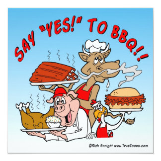 SAY YES TO BBQ! BBQ Invitation