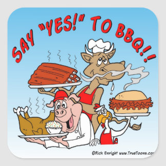 SAY YES TO BBQ! BBQ Sticker