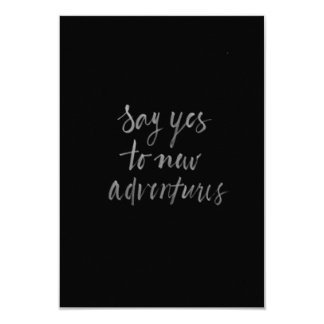SAY YES TO NEW ADVENTURES MOTTO QUOTES CARD