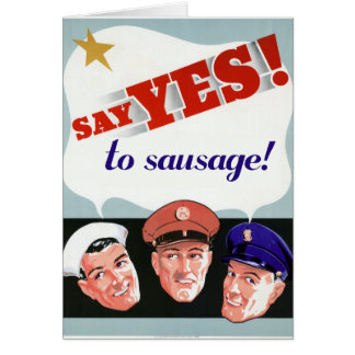 Say Yes to Sausage Card