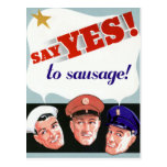 Say Yes to Sausage Post Card