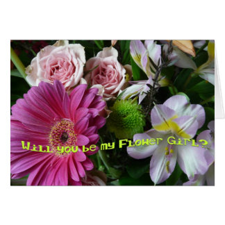 Say you'll be my Flower Girl?-Bouquet Card
