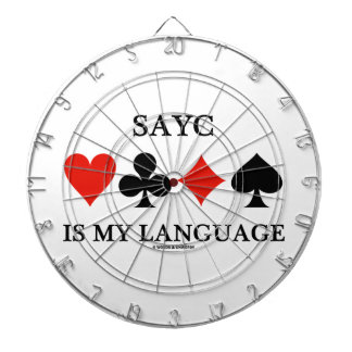 SAYC Is My Language (Four Card Suits) Dart Boards