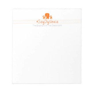 #SayDyslexia Simple Logo Notepad