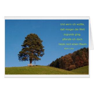 Saying a tree card