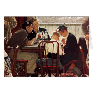 Saying Grace by Norman Rockwell Card