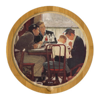 Saying Grace by Norman Rockwell Cheese Board