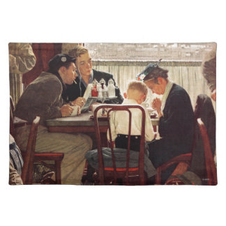 Saying Grace by Norman Rockwell Cloth Placemat