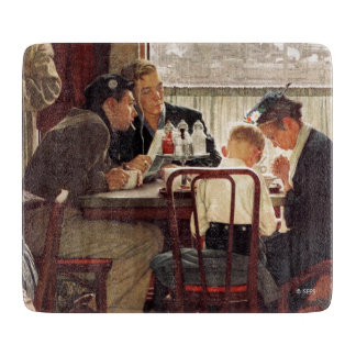Saying Grace by Norman Rockwell Cutting Board