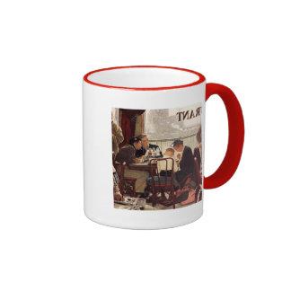Saying Grace by Norman Rockwell Ringer Mug